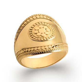 Anillo bañado oro 750 milésima 3 micras